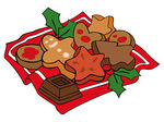 Festive cookies for holiday baking